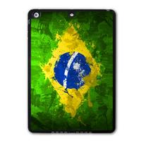 Abstract Brazil Flag Protective Black Hard Shell Cover Case For iPad 5 Air/iPad Mini/iPad 2 3 4(Free Shipping) P01