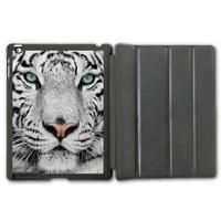Free Shipping White Tiger Protective Smart Cover Leather Case For iPad 2 3 4/iPad 5 Air/iPad Mini  P80