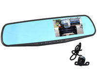 G20 4.3'' 1080P Blue mirror Car rear view mirror DVR Camera Dual Camera Car DVR Camcorder reversing camera GPS logger option