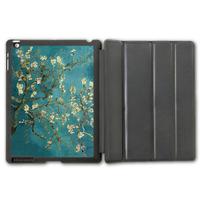 Retro Famous Painter Flower Protective Smart Cover Leather Case For iPad 2 3 4/iPad 5 Air/iPad Mini  P111