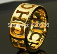 gold color titanium Carolina CH rings