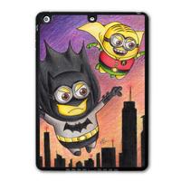 Minion Batman & Robin Protective Black Hard Cover Case For iPad 5 Air/iPad Mini/iPad 2 3 4  P14