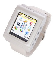 """NEW Arrived Free shipping AK912 Watch Phone Silicon Strap Single SIM Card with Pinhole Camera FM Bluetooth 1. 44""""Touch Screen"""