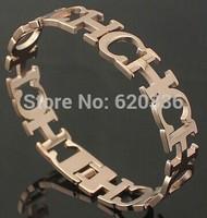 rose gold  plated  titanium Carolina CH spring bangles