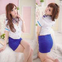 2014 Dropshipping! Sleepwear Exotic Apparel Game Uniforms Sexy Stewardess Uniforms Student Costumes Kimono Nightgown 2159