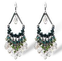 Free Shipping 2014 new bohemian style handmade beaded earrings crystal earrings Colorful Women 2014526