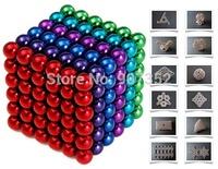 216 pcs Diameter 5mm Buckyballs Neocube Magic Cube Puzzle Magnetic Magnet Balls Spacer Beads Neodymium Education free shipping