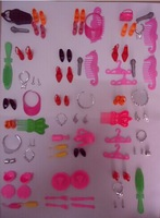 90 pcs doll accessories (Bags,Glasses,Tableware,earphone, Necklace,Combs,Shoes,) for barbie doll