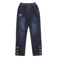 Kids Girls Demin Jeans Adjustable Waist Straight Leg Classic Size 3-16 Years