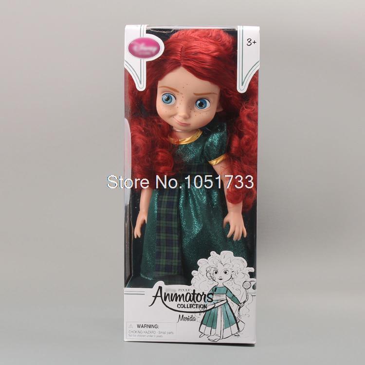 "Free Shipping Animators Collection Princess Brave Merida Doll PVC Action Figure Girls Dolls Toys Gifts 16""40CM DSFG108(China (Mainland))"