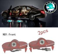 2Pcs 3D Car LED Door courtesy Shadow Projector logo Light For skoda-octavia car door light free shipping