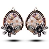 Pendientes Rushed Bohemia Women Zinc Alloy Brincos Brinco Free Shipping 2014 New Colorful Bohemian Crystal Earrings 2014513