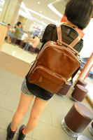 Preppy style vintage student school backpack female fashion backpack Korean casual backpack high quality PU leather