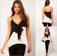 WK5758  2014 Spring Summer Women Slim Cotton Shirt Ladies Classic Horizontal Stripes Blouse