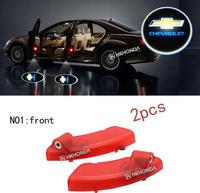 2Pcs 3D Car LED Door courtesy Shadow Projector logo Light For chevrolet captiva car door light free shipping