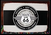 """Free shipping 7.8x12""""(20x30cm) Vintage metal painting Bedroom decoration route 66 iron paintings Bar wall decoration E-18"""