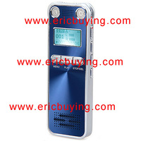 4GB LCD Backlight Display Stereo One-Button Recording Voice Recorder with Alarm and Password Protection
