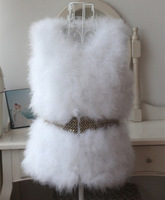 Autumn and Winter New Design Nature Genuine Real Fur Vest gilet outwear for women