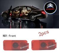 2Pcs 3D Car LED Door courtesy Shadow Projector logo Light For Citroen Sega C4 picasso car door light free shipping