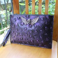 Bolsa Time-limited Women Handbags 2014 Women's Genuine Leather Handbag Day Clutch Skull Cowhide Personality Bag Fashion Envelope