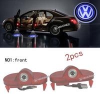 2Pcs 3D Car LED Door courtesy Shadow Projector logo Light For VW Volkswagen touran car door light free shipping