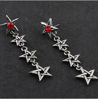 2014 new Fashion Gothic jewelry,high quality Red has power Crystal star earring for women,Vintage earrings,0422