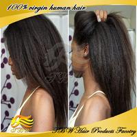 Stock kinky straight Brazilian virgin Italian Yaki full lace wig & lace front wig unprocessed human hair wigs for black women