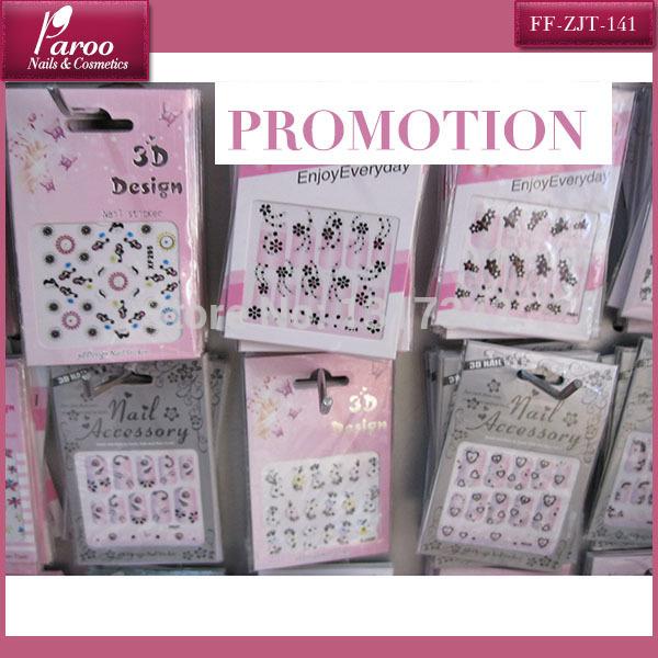 PROMOTION nail sticker 100 pcs 3D design nail sticker(China (Mainland))