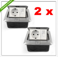 Wholesale - - 2 piece stainless steel floor socket wall socket outlet power strip