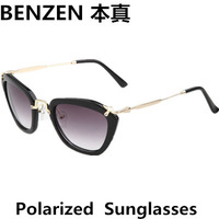 2014  Women Sunglasses Polarized Sun Glasses Female Driving Eyewear Eyeglasses  With Case Black  1026B