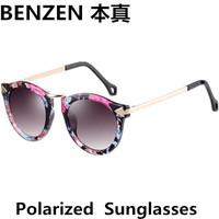 2014 New Women Polarized Sunglasses Vintage Arrow Design woman  Sun glasses  Driving shades UV 400 oculos with case black  1027B
