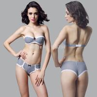 New Brand Fashion VS Secret Women vintage plaid 1/2 cup bra cover slip-resistant women's bar push up underwear