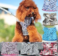 Free Shipping Dog Harness Pet Vest Teddy Traction Rope Puppy Leash One Set Puppy Harness 5 Color Dog Clothes