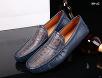 Men male design real genuine leather casual flats loafers shoes