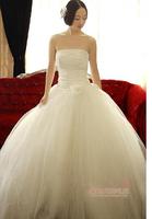 New 2014 custom made wedding dress bridal gown Slim wedding dress princess yarn X177