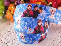 2014 new arrival 7/8'' (22mm) frozen party princess printed grosgrain ribbons cartoon ribbon hairbows 50 yards WQ14060504