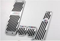 Free Shipping Hot MT Sport Foot Pedals For BMW X1 1 3 Series E46 E84 E87 E90 E91 E92 E93 X1 M3 silver good quality