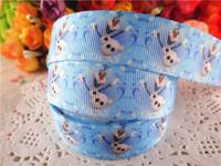 2014 new arrival 7/8'' (22mm) frozen olaf printed grosgrain ribbons cartoon ribbon DIY hair bows 50 yards WQ14052409