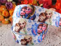 2014 new arrival 7/8'' (22mm) frozen party princess printed grosgrain ribbons cartoon ribbon hairbows 50 yards WQ14060507