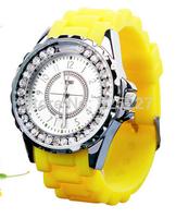 2014 new fashion watch quartz watch women sports silica gel watches girl leather strap watches watchesmenwristmatches