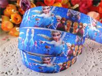 2014 new arrival 7/8'' (22mm) frozen party princess printed grosgrain ribbons cartoon ribbon hairbows 50 yards WQ14060506