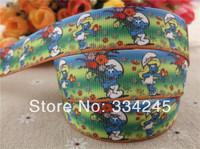 "2014 new arrival 7/8"" (22mm) characters blue flowers grosgrain ribbon cartoon ribbon hair accessories wholesale 50 yards"
