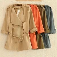 autumn desigual women 2014 women coat EUR Fashion Style Women trench coat Slim Fit  Leisure Lady Jacket  A815 free shipping