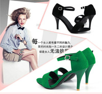 black/green/purple new arrived sexy style thin heels women party sandals for women large size sandals T1ST-33-2