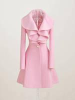 women coat autumn winter women 2014 Fashion Style Women trench woollen coat Slim Fit  Leisure Lady Jacket  A816 free shipping