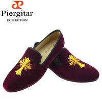 Brandy Embroidered Men Velvet Loafers Free Shipping