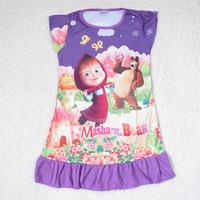 IN STOCK Free shipping FROZEN Elsa and Anna girl girls short sleeve pajamas nightgown sleepwear nightie dress nighty  nighities