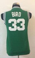 A+++ thai quality kids basketball jersey baby camisa basquete fashion boy shirt custom #33 Larry Bird