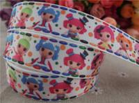 "2014 new arrival  7/8""(22mm) lalaloopsy printed grosgrain ribbon cartoon ribbon wholesale 50 yards"