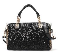 2014 Sale Women Clutch The New Ms. Sequined Leopard Handbag, Shoulder Bag, Ladies Handbags, Pu Leather Messenger Bag Wholesale